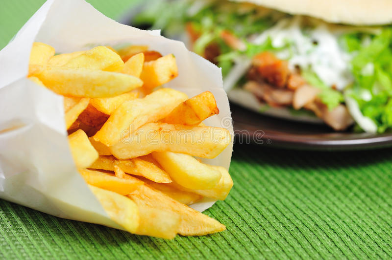 Download Fast food stock image. Image of fries, yellow, fried - 20812335