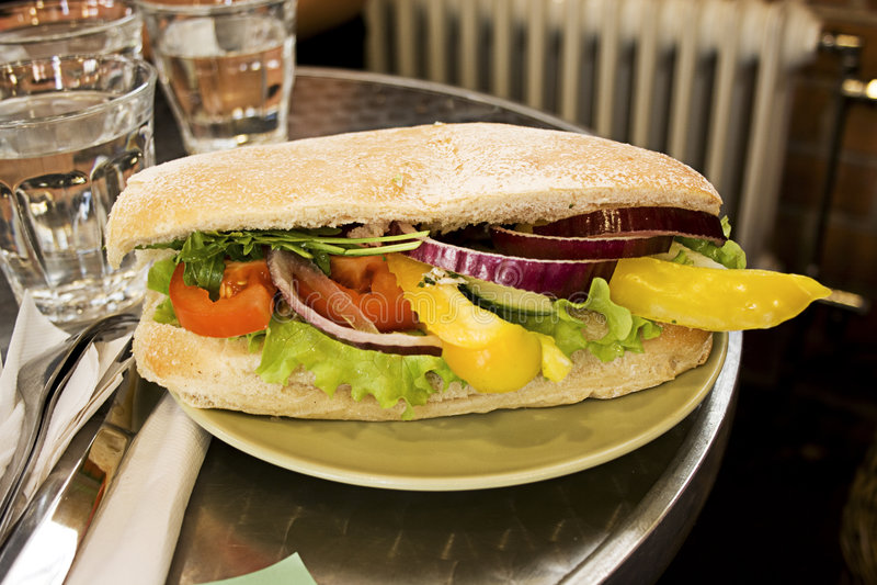 Sandwich gastronome italien images stock