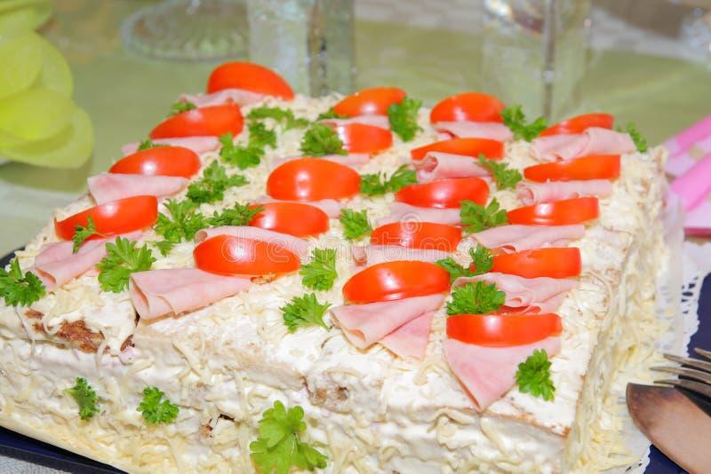 Sandwich gelaagde cake royalty-vrije stock afbeelding