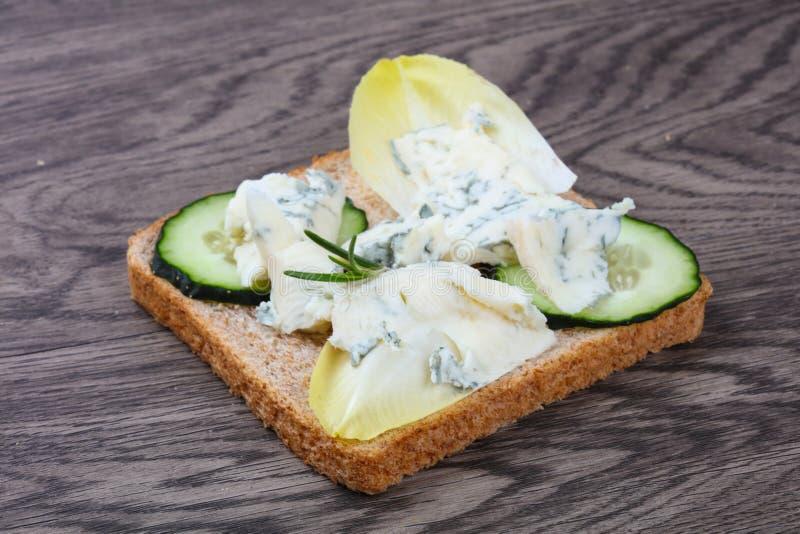 Sandwich with gorgonzola stock photos