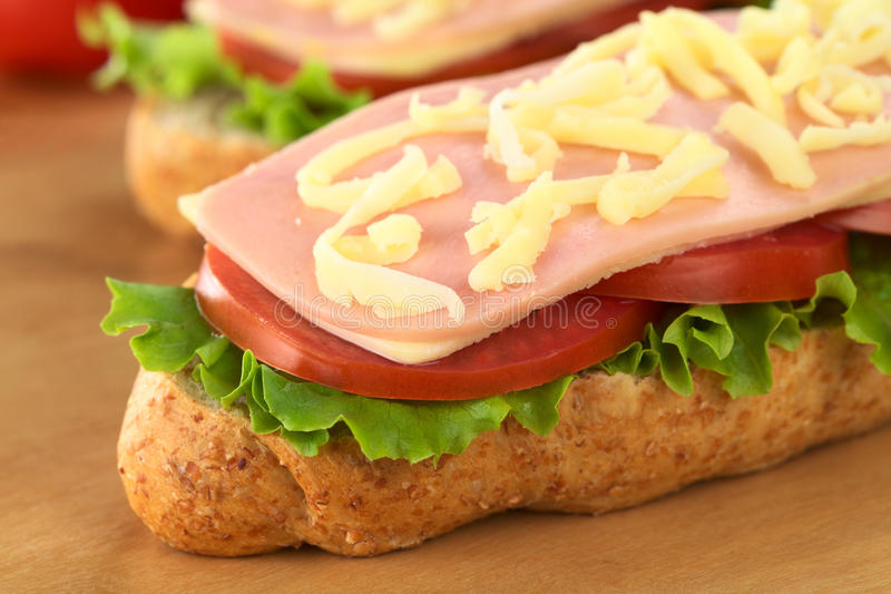 Download Sandwich With Ham, Cheese, Lettuce And Tomato Stock Photography - Image: 20960882