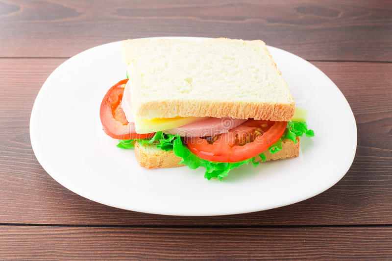 Download Sandwich With Ham, Cheese And Tomato Stock Photo - Image: 32844452