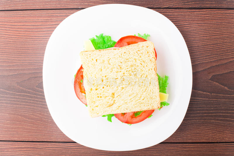 Download Sandwich With Ham, Cheese And Tomato Stock Image - Image: 33008247