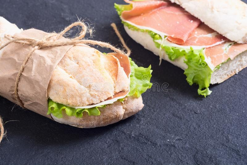 Sandwich with hamon stock photo