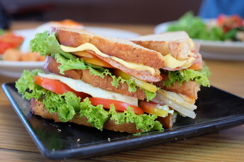 Sandwich healthy ready to eat stock photo