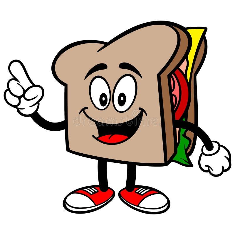 Sandwich het Spreken royalty-vrije illustratie