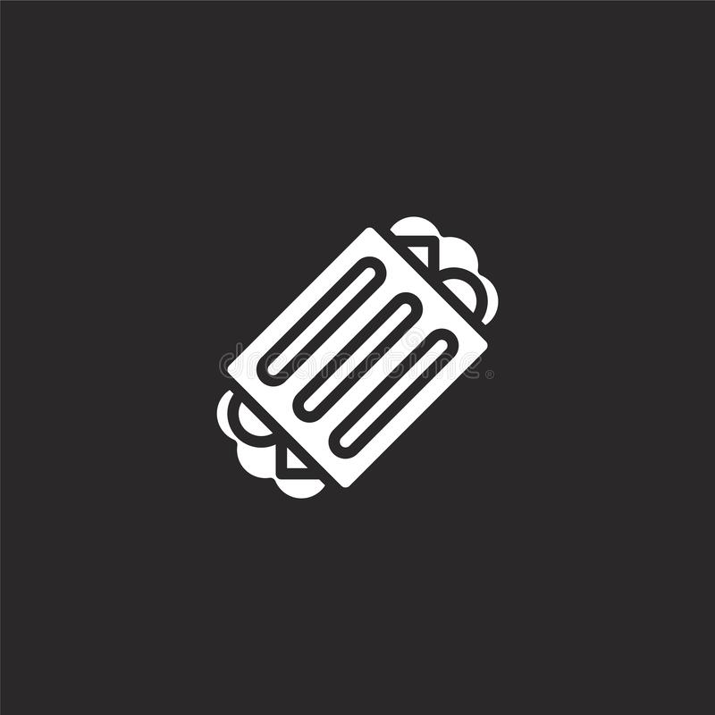 sandwich icon. Filled sandwich icon for website design and mobile, app development. sandwich icon from filled breakfast collection royalty free illustration