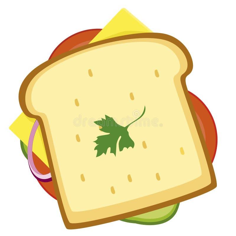 Sandwich Icon Illustration Of An Appetizing Cartoon Fast Food