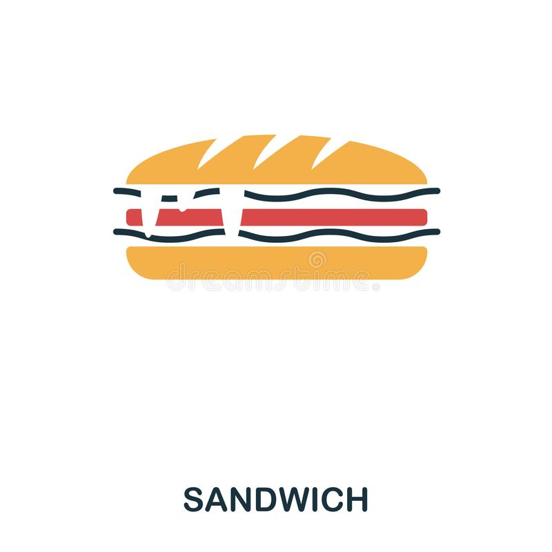 Sandwich icon. Mobile apps, printing and more usage. Simple element sing. Monochrome Sandwich icon illustration. Sandwich icon. Mobile apps, printing and more stock illustration
