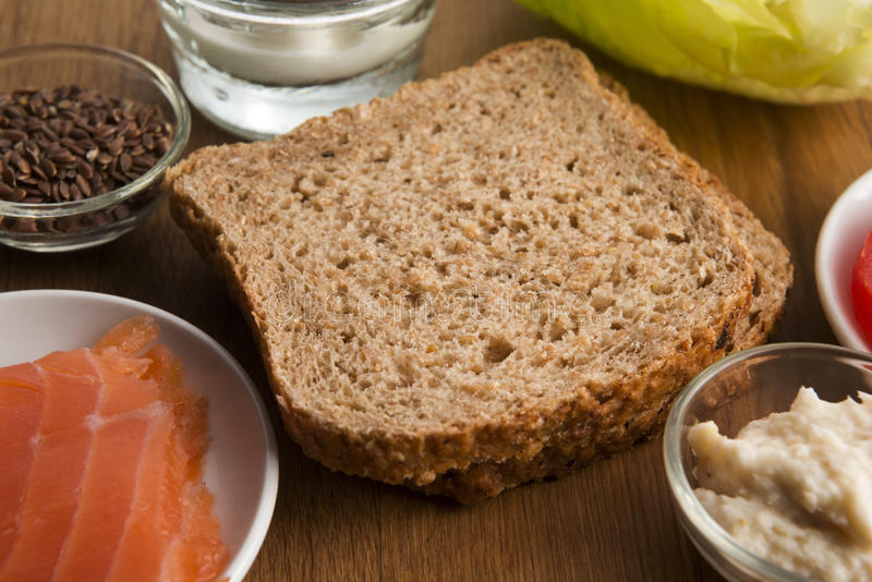 Sandwich with ingredients royalty free stock photography