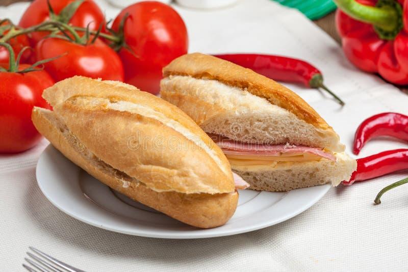 Sandwich italien à panini image stock