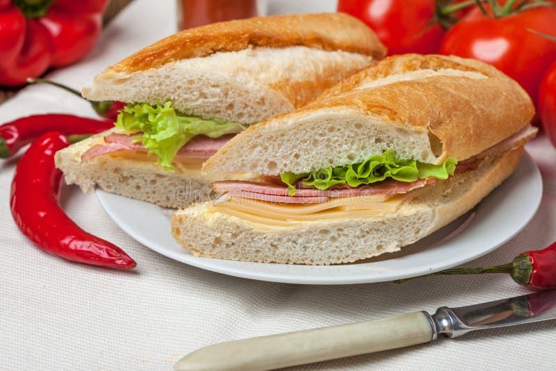 Sandwich italien à panini photo stock