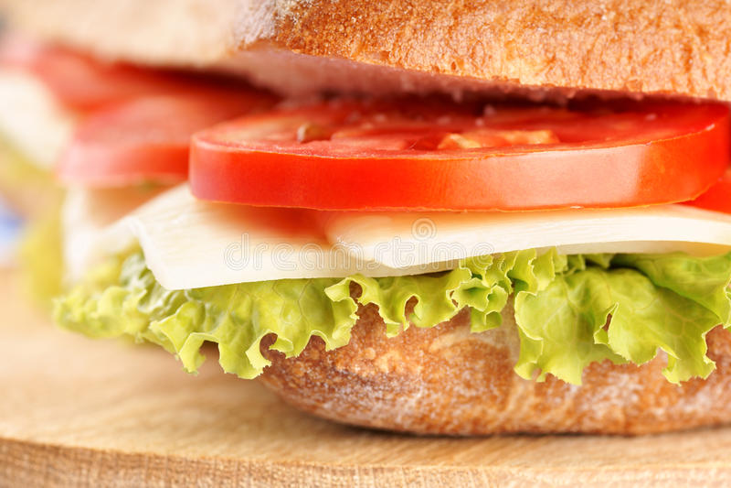 Sandwich italien à panino photographie stock