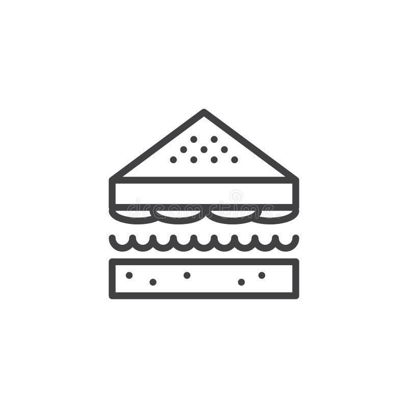 Sandwich line icon vector illustration