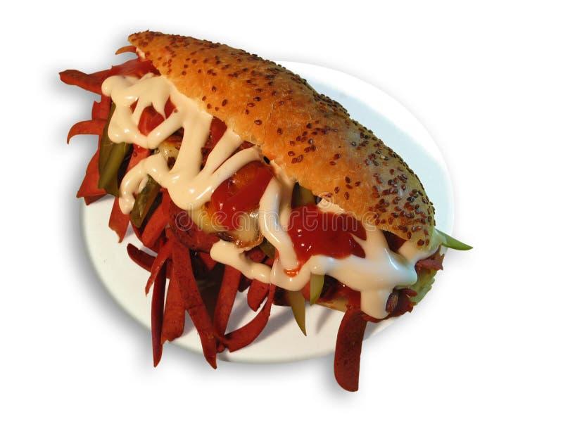 Sandwich mélangé images stock