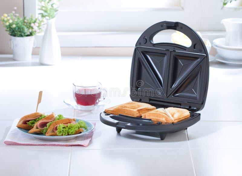 Sandwich maker machine royalty free stock image