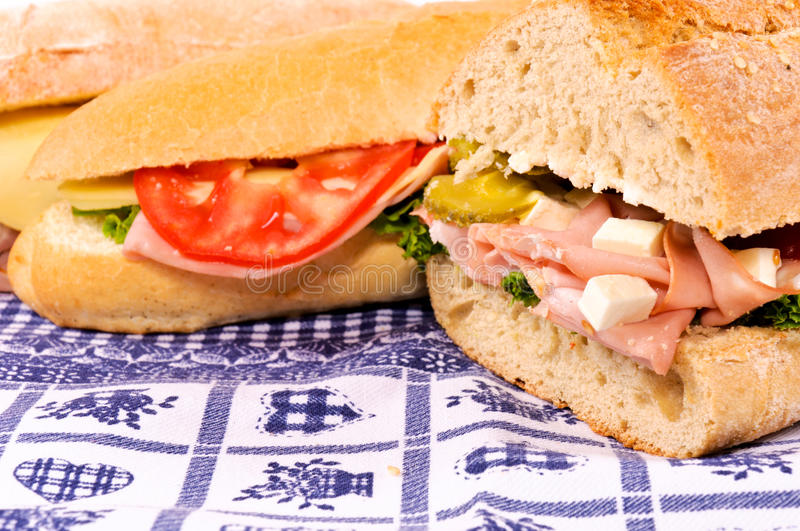 Sandwich meal stock images