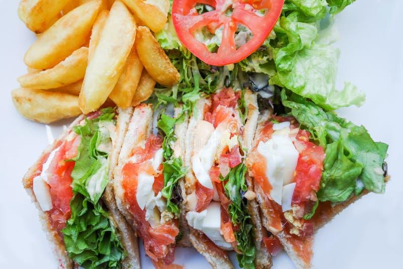 Sandwich met bacon royalty-vrije stock afbeelding