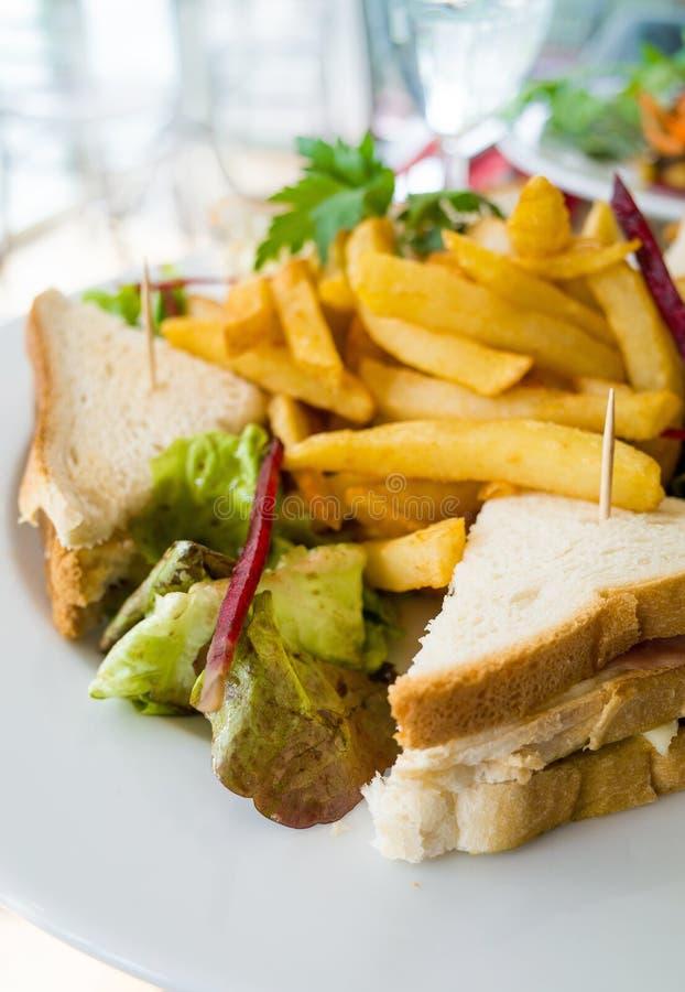 Sandwich met bacon royalty-vrije stock foto's