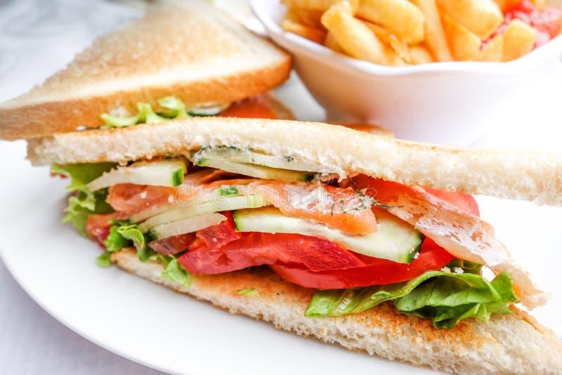 Sandwich met bacon royalty-vrije stock fotografie