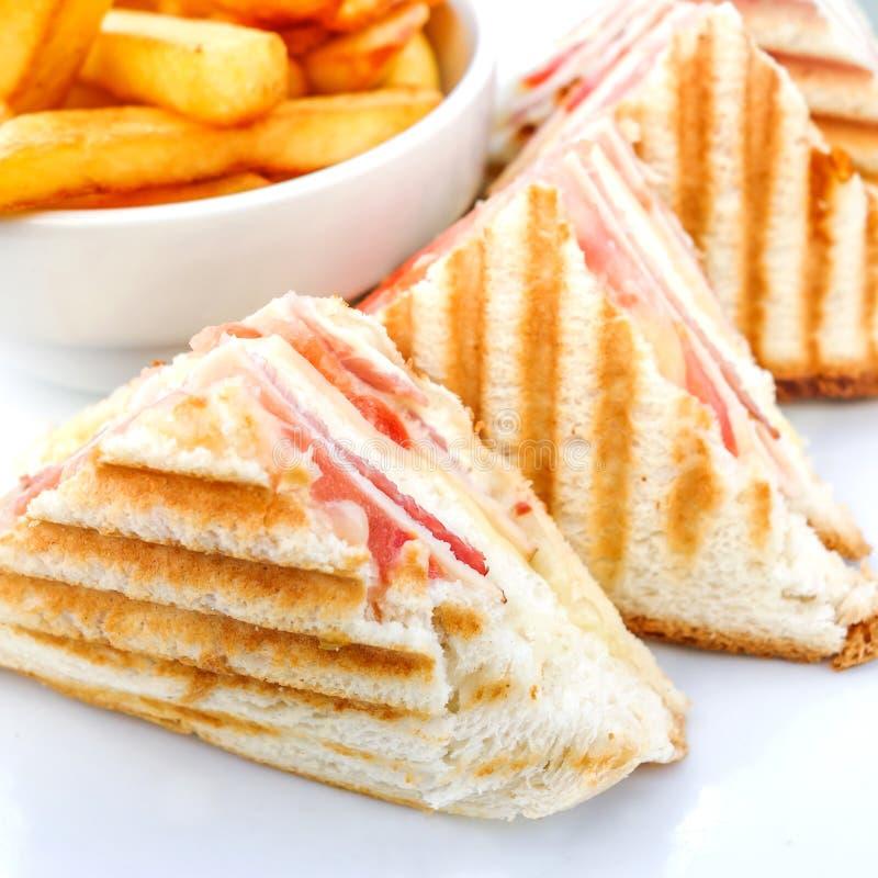 Sandwich met bacon stock afbeelding