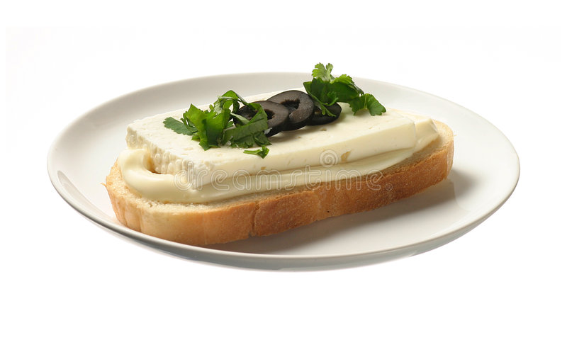 Sandwich met bryndza stock foto