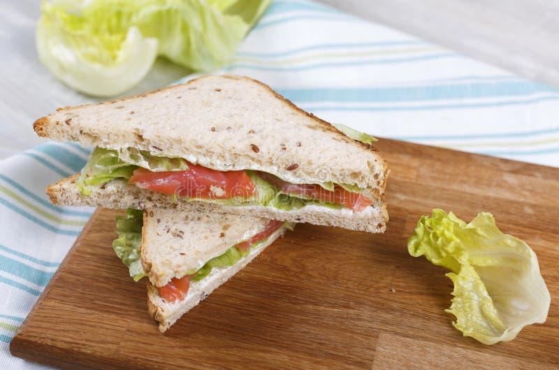 Sandwich met een zalm royalty-vrije stock foto's