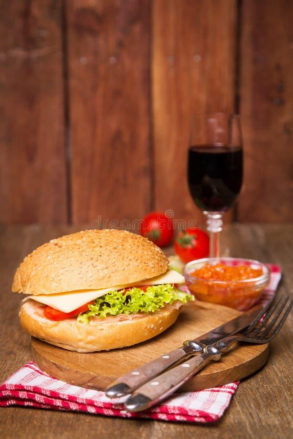 Sandwich met ham stock foto's