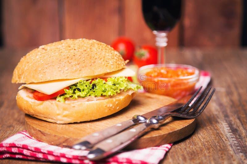 Sandwich met ham royalty-vrije stock foto's