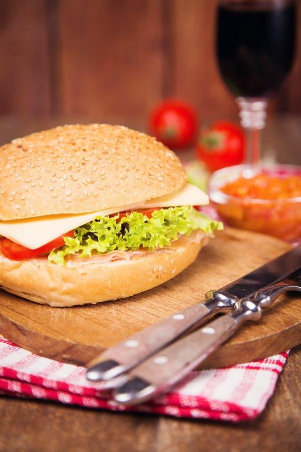 Sandwich met ham royalty-vrije stock foto