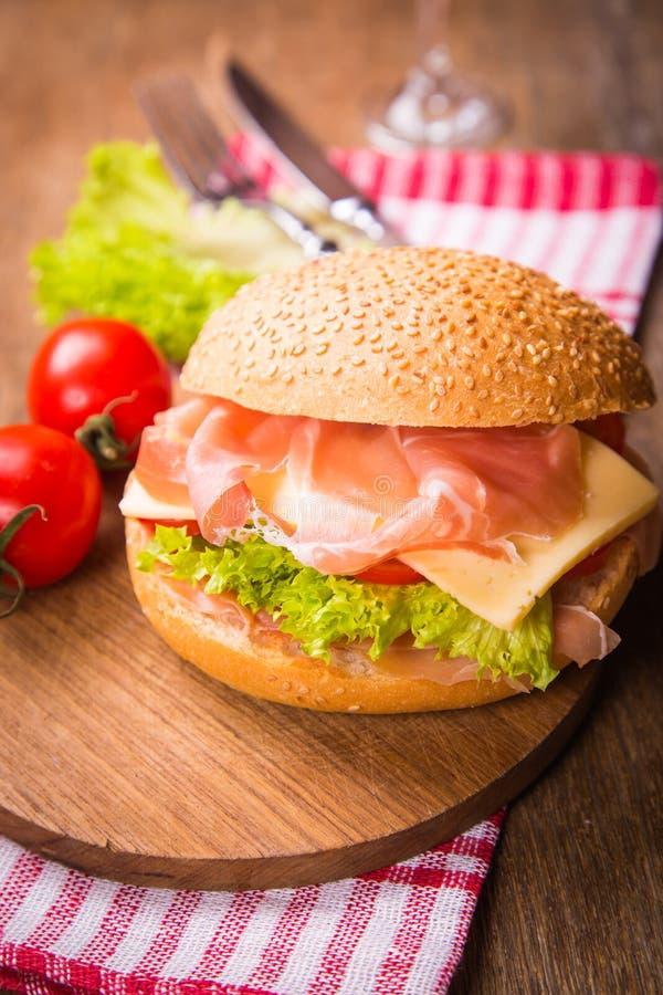 Sandwich met ham stock afbeeldingen