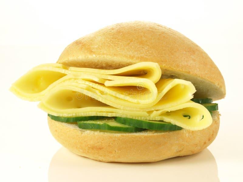 Sandwich met kaas royalty-vrije stock afbeelding