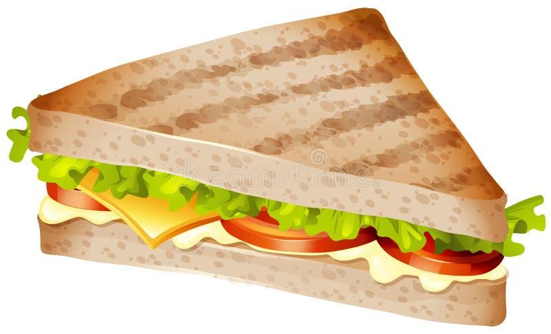 Sandwich met vlees en groenten royalty-vrije illustratie