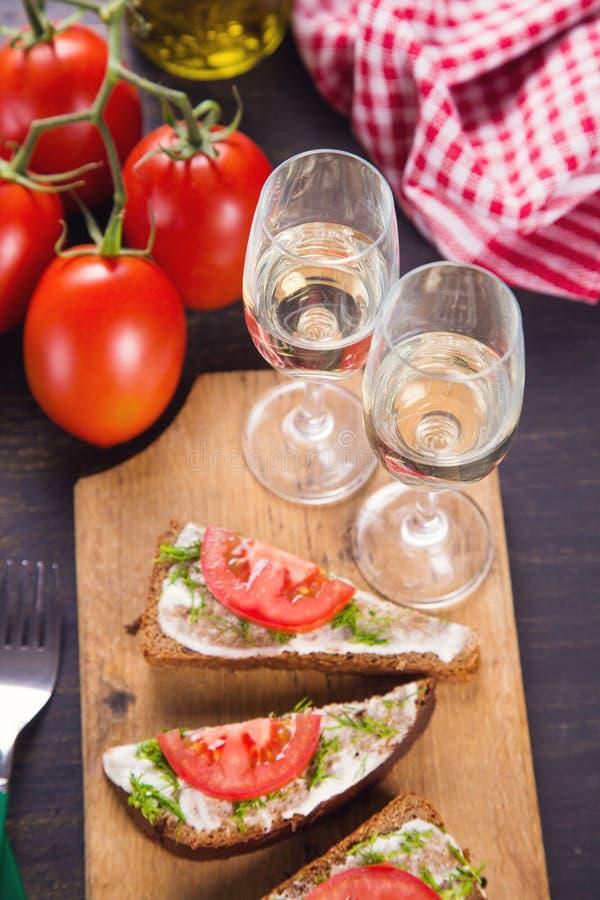Sandwich met wijnstok royalty-vrije stock foto's