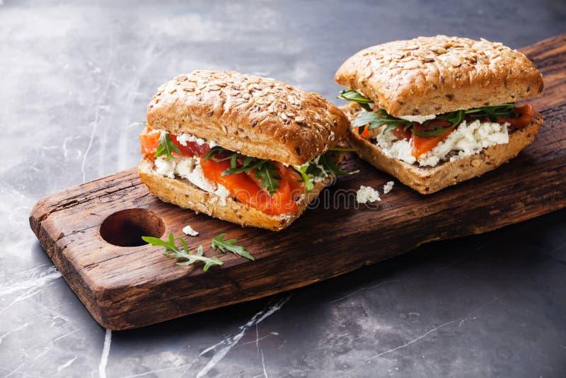 Sandwich met Zalm royalty-vrije stock fotografie