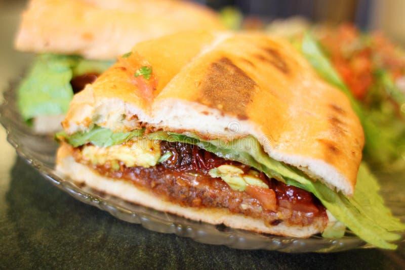 Sandwich milanais ou mexicain à Torta à type photo stock