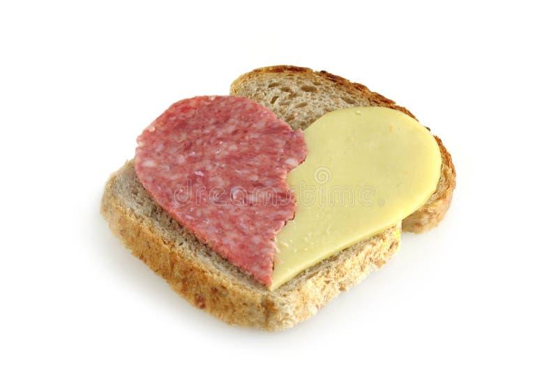 Sandwich mit Innerem stockfotos