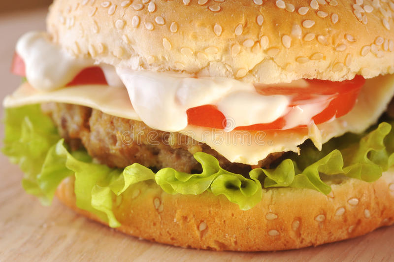 Sandwich mit Kotelett lizenzfreies stockfoto