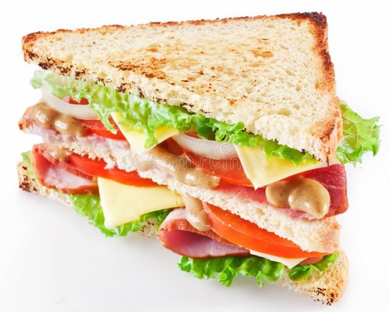 Sandwich mit Speck stockfotos