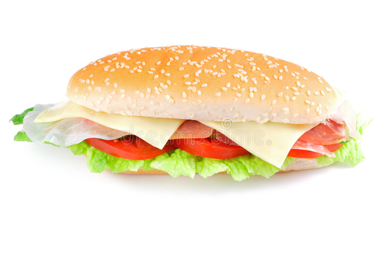 Sandwich mit Speck stockbild