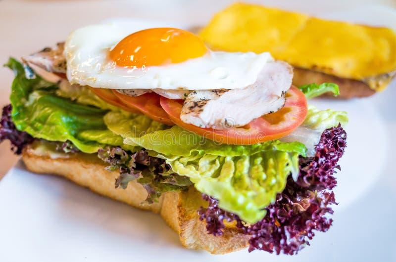 Sandwich mit Speck lizenzfreies stockfoto