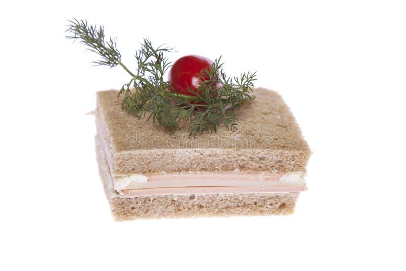 Download Sandwich mit Tomate stockbild. Bild von käse, brot, teil - 12200949