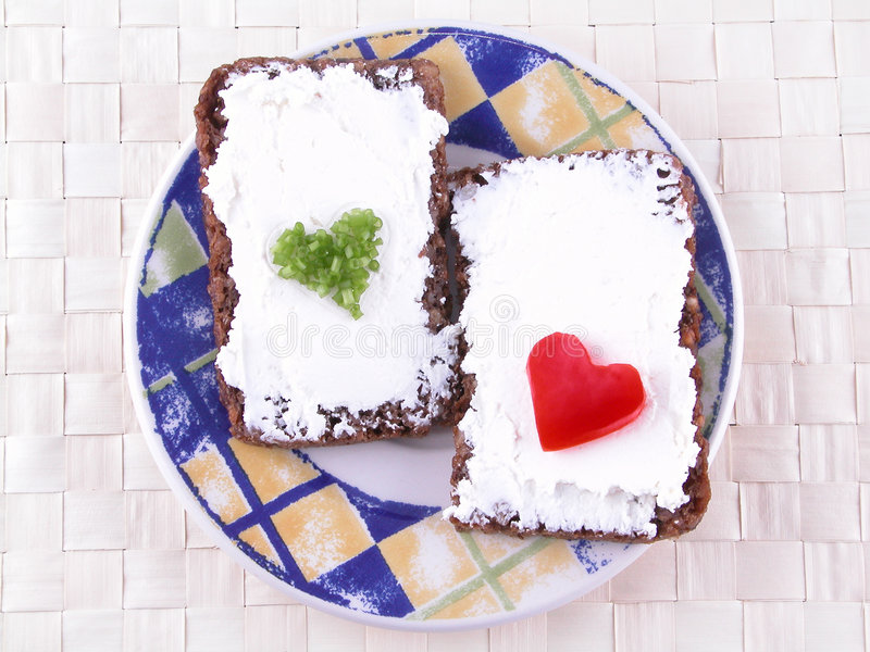 Sandwich mit Vitaminen stockfoto
