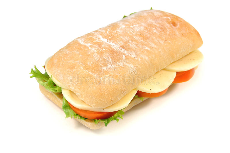 Sandwich, mozzarella royalty free stock photos