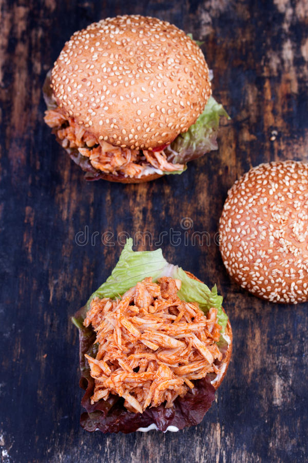 Sandwich nouvellement préparé à Joe désordonné photos stock