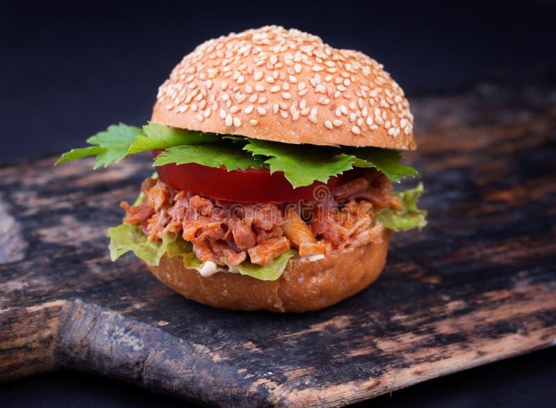 Sandwich nouvellement préparé à Joe désordonné images libres de droits