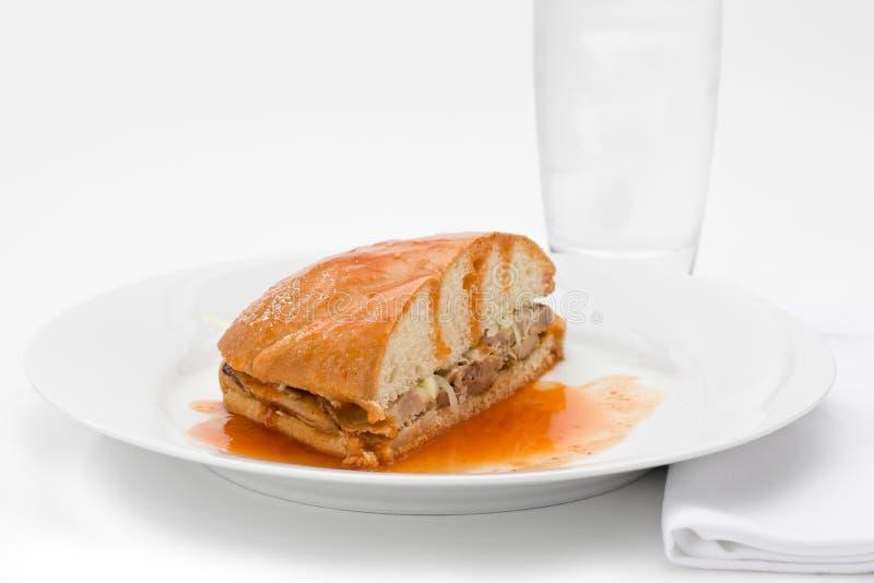 Sandwich noyé à porc photos libres de droits