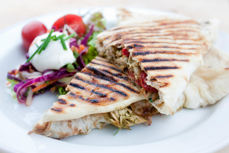Sandwich ou panini grillé image stock