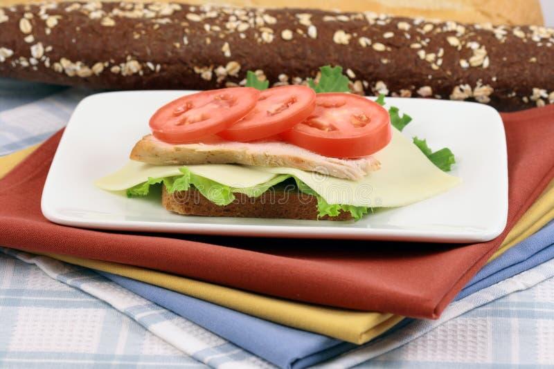 Sandwich ouvert à visage de sein de Turquie photo libre de droits