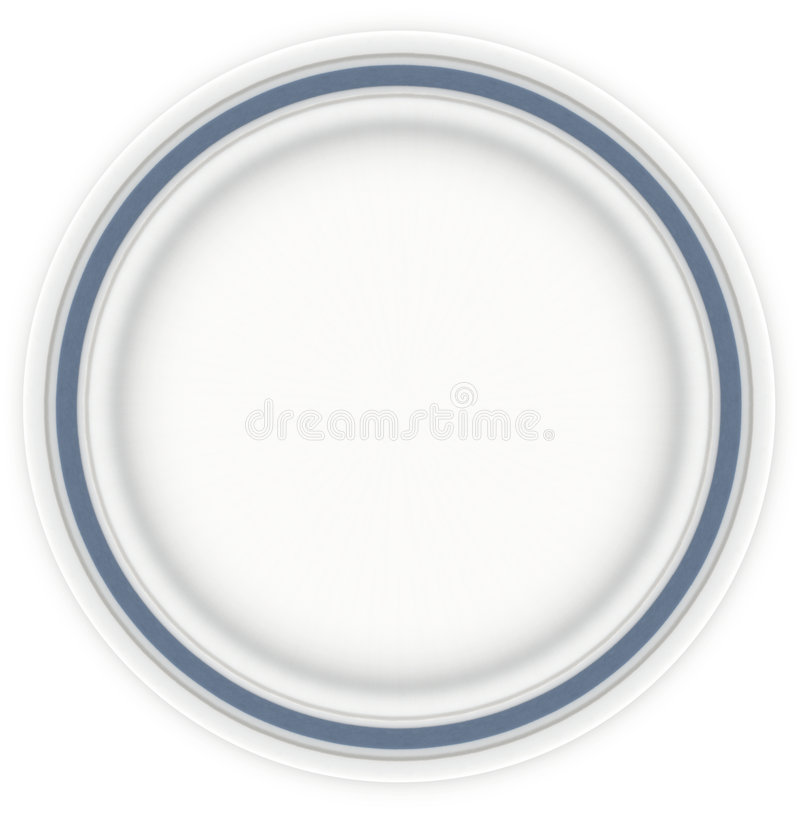 Sandwich Plate with Blue stock images